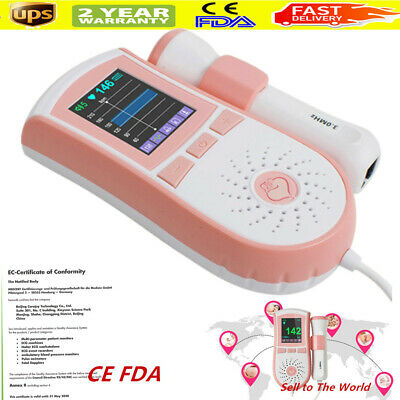 4function Fetal Doppler 3mhzprobe Lcd Prenatal Baby Heart Rate Monitor Pregnancy