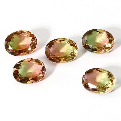 9.2 CT 13*18 MM Watermelon BI Color Tourmaline Oval Cut Loose Gemstone Wholesale Bi Color Tourmaline Gem