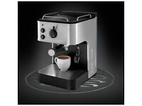 Brand New Russell Hobbs 18623 Espresso Coffee Machine Stainless Steel & Black