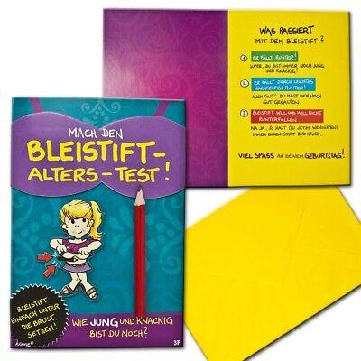 Achies Friends Geburtstagskarte Geburtstag Bleistift Test Aufklappkarte Glückwun