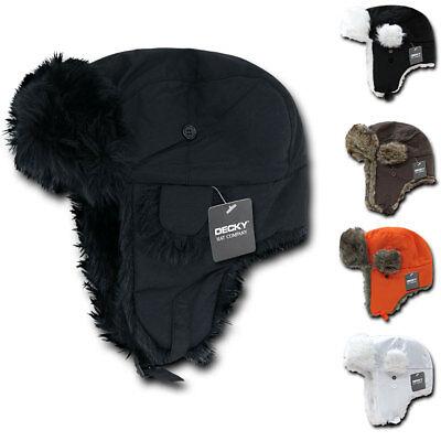 Decky Aviator Bomber Soft Faux Fur Ear Flap Hat Cap Winter Ski Trooper Trapper