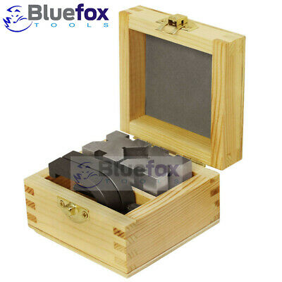 2pcs V Block Set Toolmakers Vee Block 50mm with Wooden Case Well-packaged
