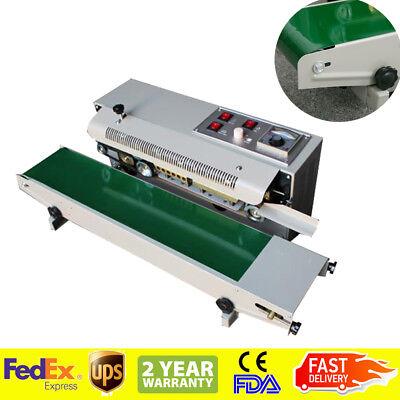 Auto Horizontal Continuous Plastic Bag Band Sealing Sealer Machine Usa Shipping