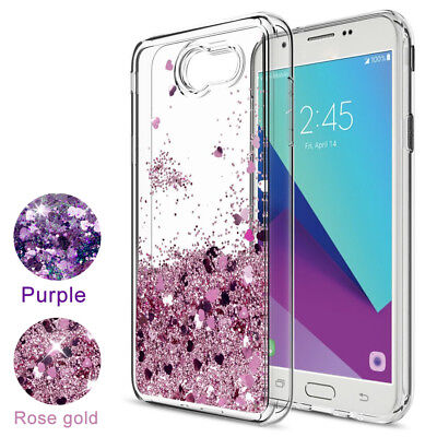 For Samsung Galaxy J3 2017,J3 2018 Case Liquid Glitter Quicksand TPU Phone Cover