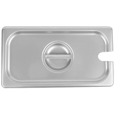 6-pack 13 Size Slotted Silver Stainless Steel Steam Table Hotel Pan Lids