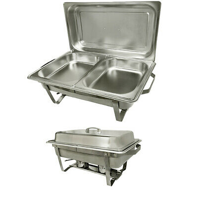 8 Quarts Stainless Steel Chafer Dish Full Size Buffet Trays 2 12 Size Dish