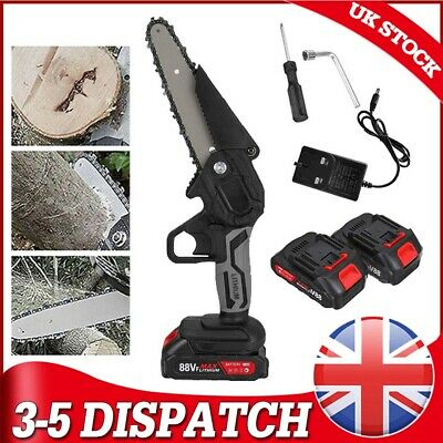 6in 88V 1200W One-Hand Saw Woodworking Electric Chain Saw Wood Cutter Cordless