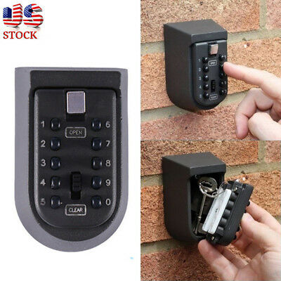Outdoor Combination Hide Key Safe Lock Box Storage Wall Mount Security 10 Digits