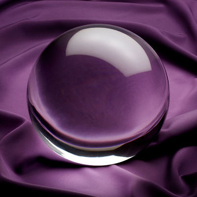 Clear Crystal Ball 6 inch 150mm  Includes Crystal Stand and Gift Package