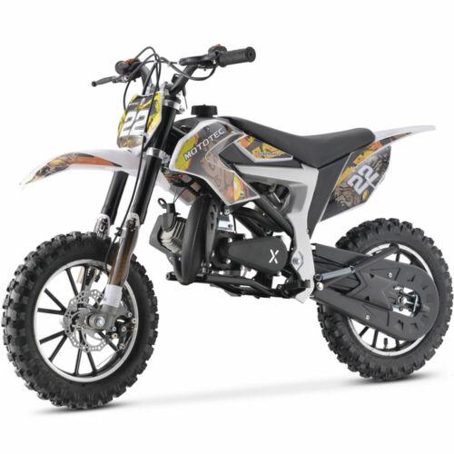 MotoTec 50cc 2 Stroke Demon Kids Gas Dirt Bike-Green,Yellow,Blue,White or Purple