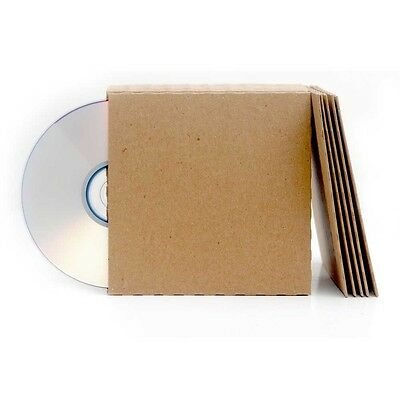 100 Brown Recycled Card CD DVD Sleeve/Wallet/Cover Unbranded/Blank