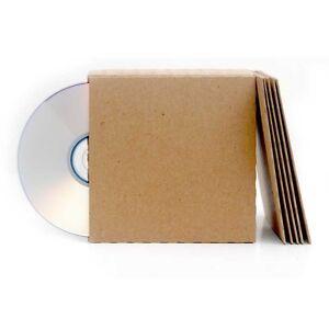 25 Brown Recycled Kraft Card CD DVD Sleeve/Wallet/Cover Unbranded/Blank