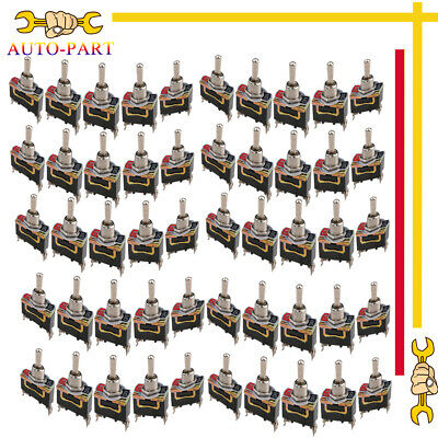 50x Heavy Duty Rocker Toggle Switch Spst 2 Pin Onoff Waterproof Boot Cap Cover
