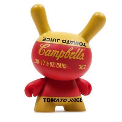 kidrobot Andy Warhol Dunny Series 2 Vinyl Mini Figure Campbells Tomato Juice Box
