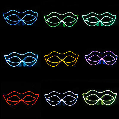 Ladies LED Eye Light Up Mask for Halloween Clubbing Rave Party Cosplay Costume  - Halloween Club Masquerade Masks