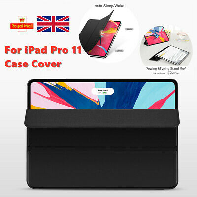 "For Apple iPad Pro 11"" 2018 Slim Soft Smart PU Leather Stand Cover Case"