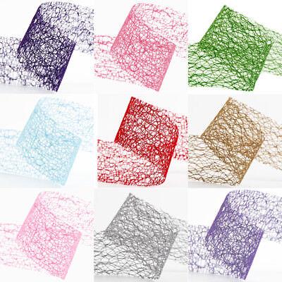 38mm spider web deco ribbon lace net jute mesh trim ribbon 2/5/20 metre lengths](Jute Netting)