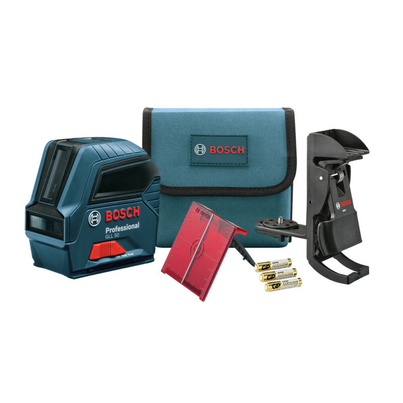 Bosch Self-Leveling Cross-Line Laser GLL50-RT Recon