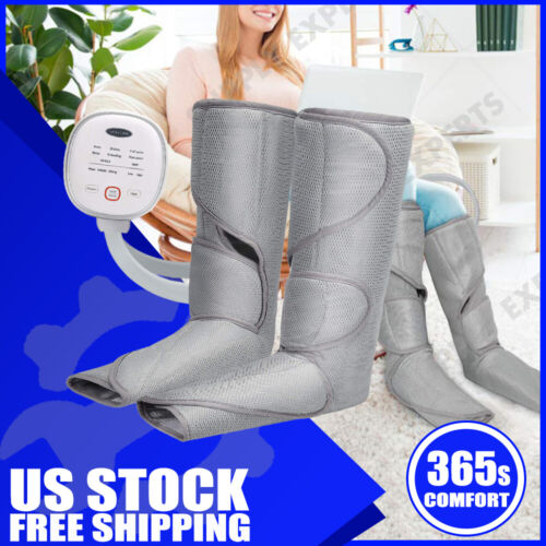 Tespo Leg Massager with Heat Air Compression Wrap with Handh