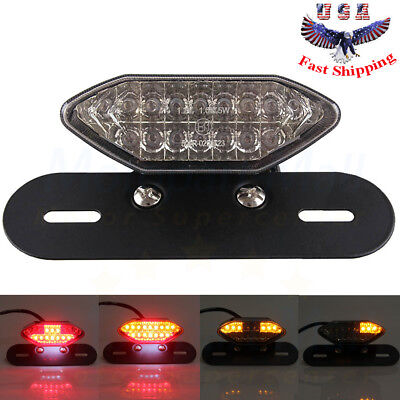 Smoke 16LED Motorcycle ATV Turn Signal Brake License Plate Integrated Tail (Boulevard Mall)