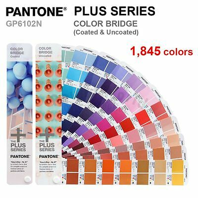 Pantone Plus Series Gp6102n Color Bridge Coated Uncoated 1845 Colors - New