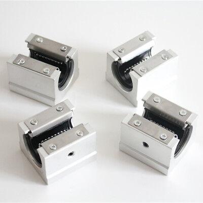Sbr20uu 20mm Aluminum Open Linear Motion Bearing Slide Unit For Linear Rail 4pcs