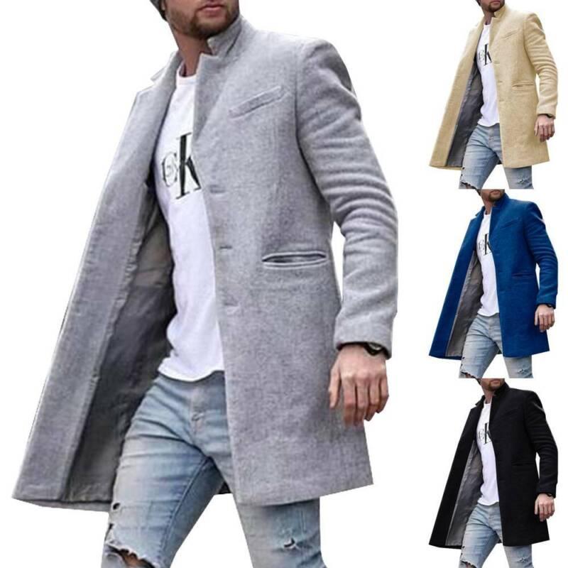 Autumn Winter Mens Coats Cardigan Outwear Long Jacket Overco