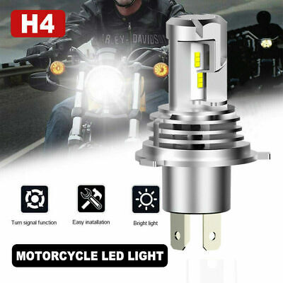 H4 HB2 LED Bulb HID White 360° Hi/Low Beam Motorcycle Headlight 6500K High Power