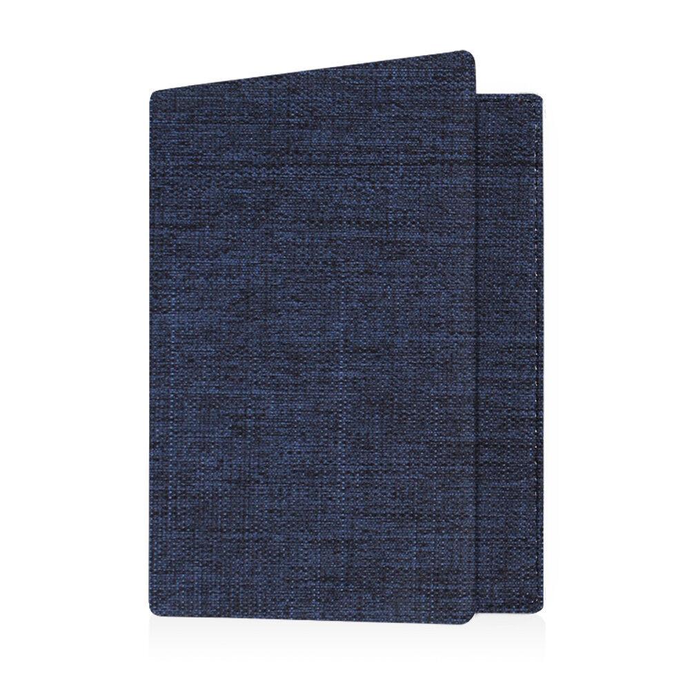 Travel Passport Holder Wallet Holder RFID Blocking Vegan Leather Card Case Cover Denim Indigo