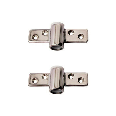 Pair-Boat Oarlock Sockets Edge Side Mount Rowlock Line Brass S/S with PVC -