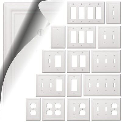 White Chelsea Wallplate Decorator Light Switch Plate Cover Toggle Rocker Outlet - Lightswitch Cover