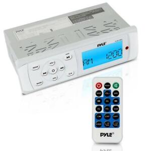 Pyle PLMR14BW 200 Watt Universal Bluetooth Marine Stereo Radio Receiver, with Bluetooth and Weatherband