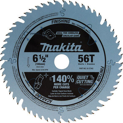 Makita 6-12 In. 56t Carbide-tipped Plunge Saw Blade B-57342 New