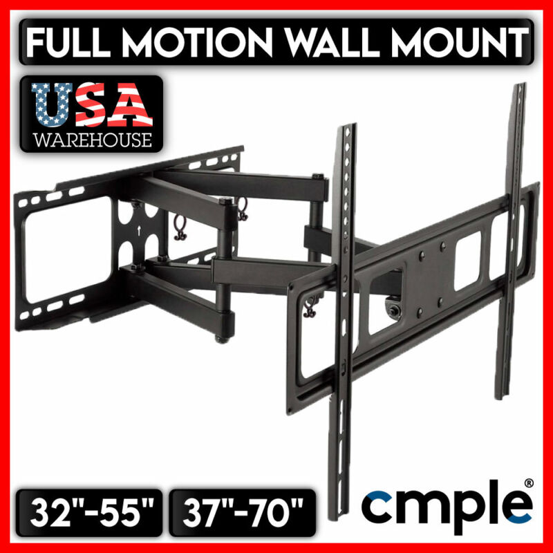 Full Motion TV Wall Mount Swivel Bracket 32 37 40 42 46 47 50 52 55 60 65 70