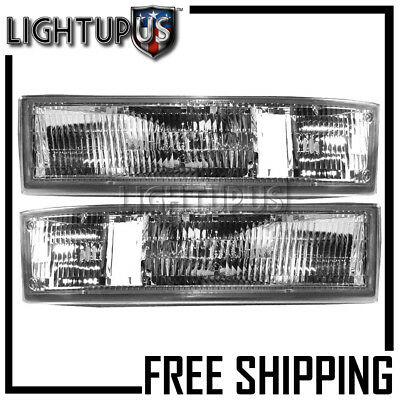 1995-2005 CHEVROLET ASTRO GMC SAFARI Left Right Sides Pair Park Signal Lights