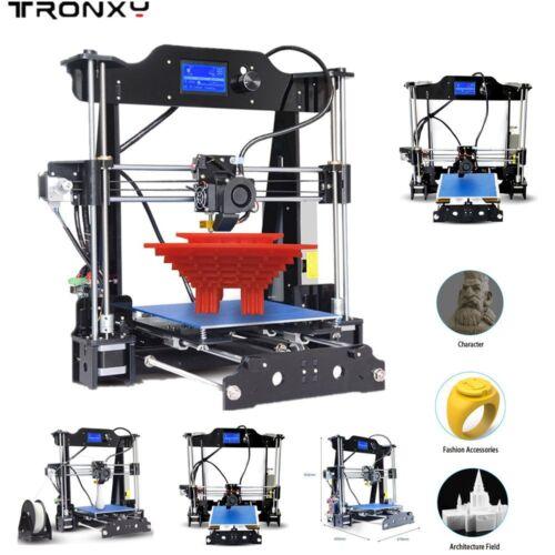 STAMPANTE 3D TRONXY PRINTER PRUSA Acrilico Telaio in acciaio MK8 Extruder WO