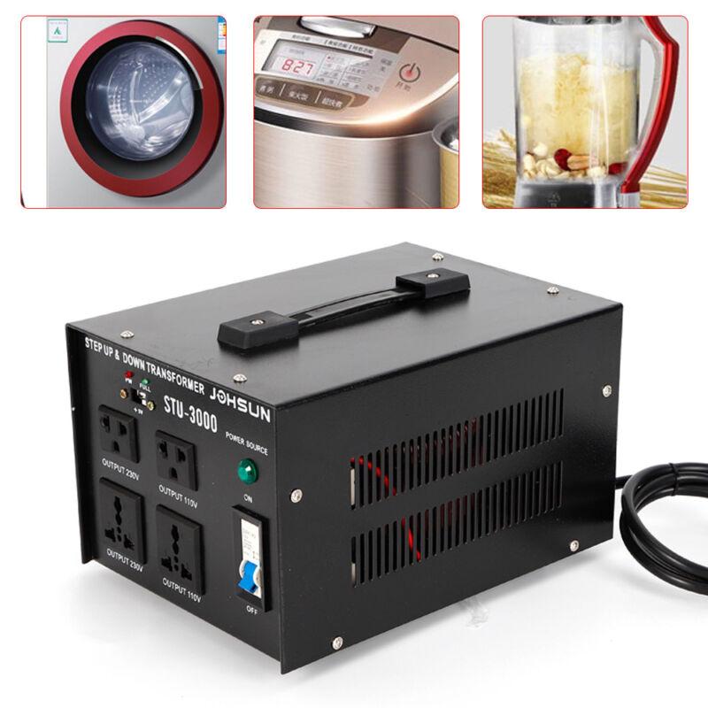 3000W Voltage Transformer Step-Up/Down 5 Outlets Converter 110V⇋220V w/ USB Port