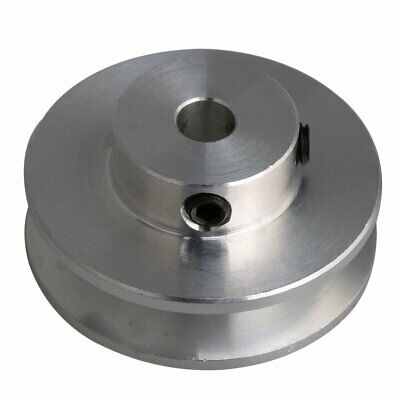 Aluminum V-shape Groove Pulley 5mm Inner Bore For 3-5mm Pu Round Belt Silver