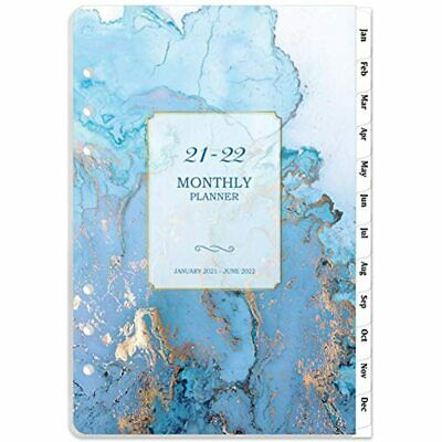 2021-2022 Monthly Planner Refill 18-month Refills With Tabs 5-12 X 8-12 A5