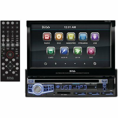 BOSS Audio 7 inch Single-Din Flip-Up DVD/MP3/CD & AM/FM Receiver With Bluetooth