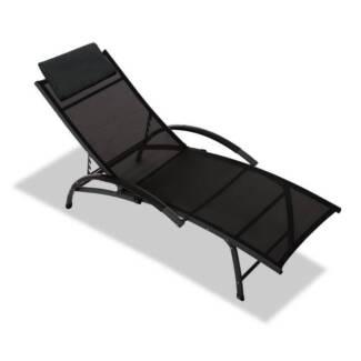 Beach Recliner Lounge Chair Black