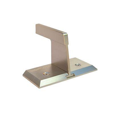 Patio Sliding Door Wall Barricade Brace NIGHTLOCK Brushed Nickel Security Lock ()