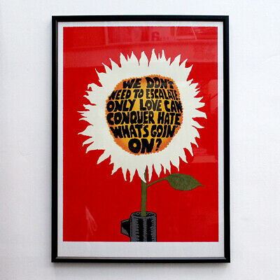 MARVIN GAYE I heard it through the grapevine Poster art typography print