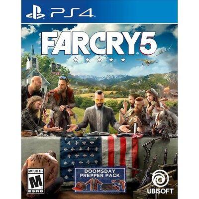 NEW! FAR CRY 5 (Sony PlayStation 4, 2018 PS4)  Sealed! SHIPS FREE 11/26!!!