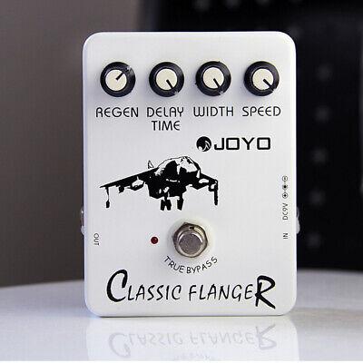 Joyo Classic Flanger Delay Guitar Effect Pedal True Bypass Design White UK F/S