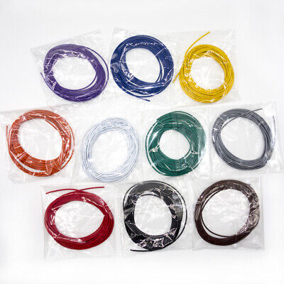 10 Lots 5 Meters Ul1007 Electronic Wire 24awg 1.4mm Pvc Electronic Cable 24