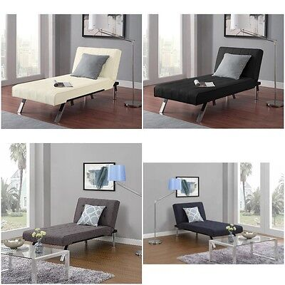 Chaise Lounger Convertible Futon Sofa Sleeper Bed Recliner Chair Couch Dorm New