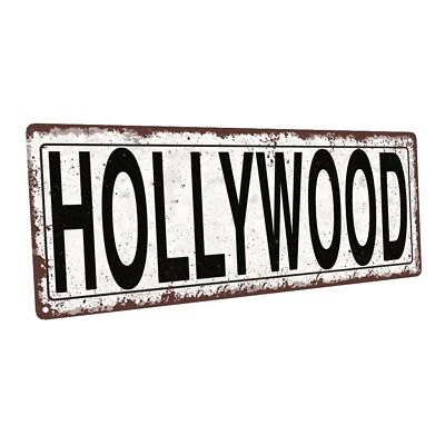 Hollywood Wall Decor (Hollywood Metal Sign; Wall Decor for Home and)