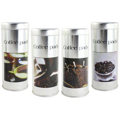 4x Kaffeepad-Dose, Dekodose, zufällige Dekore, für Kaffeepads oder Ähnliches