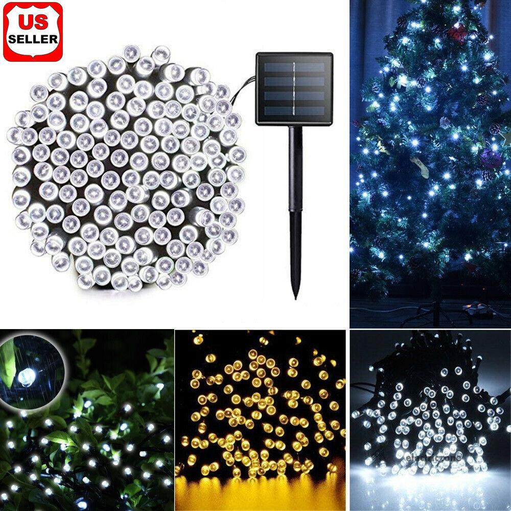 100 200 LED Solar String Fairy Light Garden Christmas Outdoor Party Decoration Home & Garden